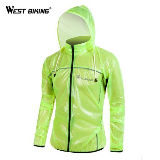 WEST BIKING Reflective Cycling Raincoat Windproof Waterproof Windbreaker Bike Jersey Mountain Road Bicycle Bike Cycling Raincoat