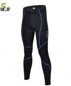 CHEJI Gel Padded Cycling Long Pants Spring Autumn Ropa Ciclismo Bicycle Bike Trousers Running Fitness Compression Tights For Men 1