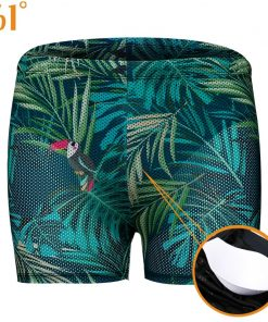 361 Men Swimwear with Pad Plus Size Print Swimming Trunks for Men M-3XL Swim Shorts Boys Swimwear Male Swimsuit Bathing Suit
