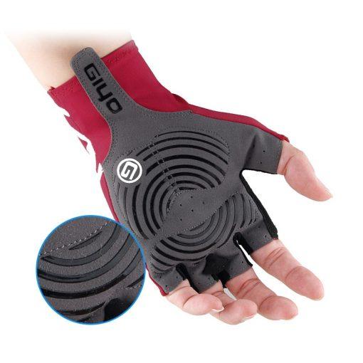 GIYO Anti Slip Gel Pad Bicycle Gloves Gel Pad Short Half Finger Cycling Gloves Breathable Outdoor Sports Men MTB Bikes Gloves 2
