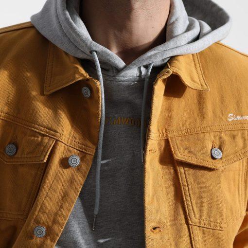 SIMWOOD Denim Jacket Men Fashion 100% Cotton Trucker Jackets Slim Fit Embroidery Chest Pocket 4 Colors Spring Coats 180468 2