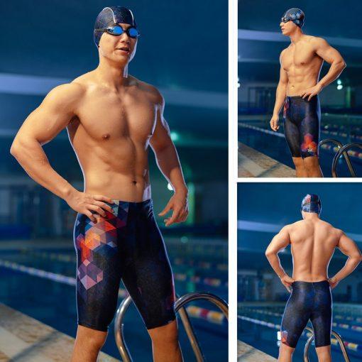 361 Men Swimsuit Plus Size Tight Swimming Trunks Quick Dry Pool Swim Shorts Training Swimwear for Men Boys Swim Pants Jammer 2