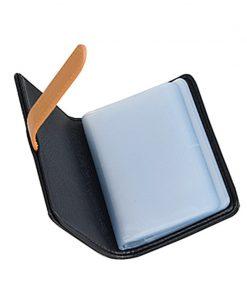 BISI GORO 2019 Business Name Card Holder Leather RFID Blocking Credit Card Case Buckle Men Women Sim Plastic Card Holders 1