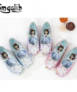 Girls Dress Shoes Princess Party Toddler Girls Wedding Glitter Crystal Flower Shoes Kids Dance Pink School Shoes For Girls 1