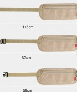 Women Polyester Belt Bags Waist Packs Bags Unisex Nylon Waistband For Accessory Small Travel Bag 1