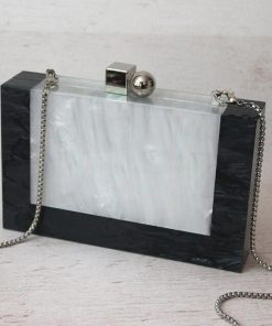 Fashion Design Women Bag Acrylic Evening Bag High Quality Marble Patchwork Clutches Female Shoulder Bag Party Casual Clutch 1