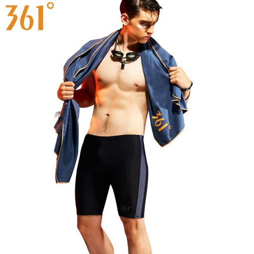 361 Men Swimsuit Plus Size Tight Swimming Trunks Quick Dry Pool Swim Shorts Training Swimwear for Men Boys Swim Pants Jammer 4
