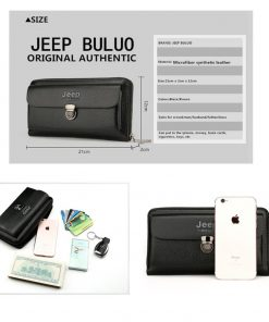 JEEP BULUO Men Wallets 2018 New Casual Wallet Men Purse Clutch Bag Microfiber Leather Wallet Long Design Handbag For Man 1688 1
