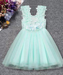 Summer Toddler Baby Girl Dress Infant Floral Baptism Gown for Girls 2-6T Tulle Birthday Party Sundress Clothes vestido infantil  1