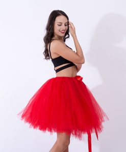 Handmade Fashion Women Lolita Skirt Vestidos Pretty Elastic Tulle Adult Tutu Skirt Girl Princess Pettiskirt Dancewear Jupe Femme 1