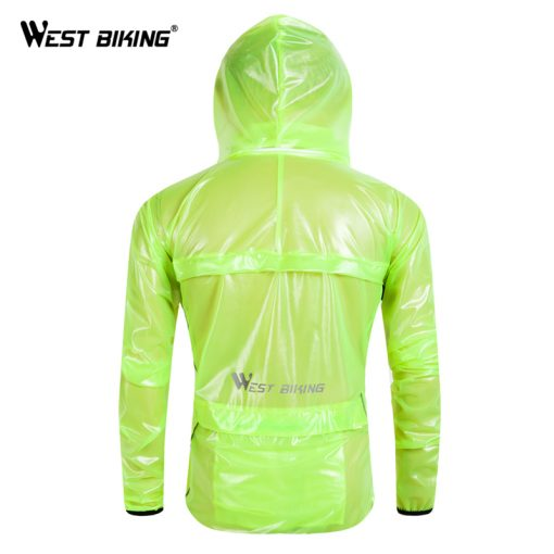 WEST BIKING Reflective Cycling Raincoat Windproof Waterproof Windbreaker Bike Jersey Mountain Road Bicycle Bike Cycling Raincoat 1
