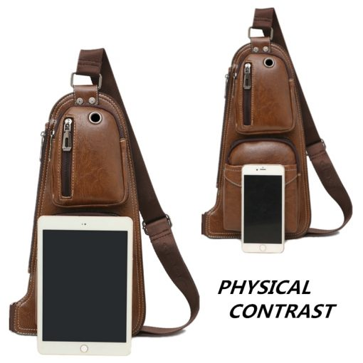 JEEP BULUO Men Messenger Bags New Hot Crossbody Shoulder Bag Famous Brand Man's Leather Sling Chest Bag Fashion Casual 6196 2
