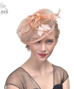 WELROG Elegant Flower Fascinator Hats For Women Ladies Hair Clips Hair Accessories Feather Mesh Wedding For Bridal Hair Barrette