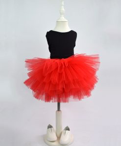 Fashion Girls Tutu Super Fluffy 6 Layers petticoat Princess Ballet Dance Tutu Skirt Kids Cake Skirt  Chritsmas Children Clothes