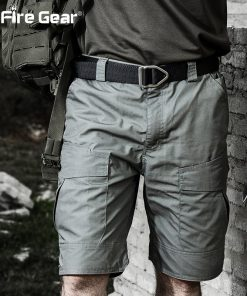 ReFire Gear Summer Rip-stop Tactical Military Shorts Men Waterproof Camouflage Cargo Shorts Casual Loose Cotton Camo Army Shorts 1