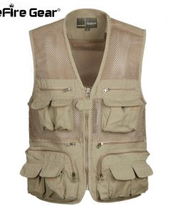 Summer Tactical Breathable Multi Pockets Casual Vest Men Cotton Sleeveless Waistcoat Quick Drying Mesh Vest Male L-4XL