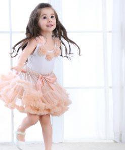 2pcs Fashion Baby Girl Floral Clothes Set Girls Pettiskirt Tutu Skirt Set Rosettes Top Princess Birthday Girls Set  8 Colors 1