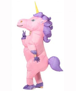 Inflatable Unicorn Costume For Adults Kids Masquerade Movie Carnival Halloween Costumes Animal Cosplay Clothing disfraz inflable 1