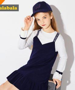 Balabala vestiti bambina girls dress long sleeve knitted dresses for girls costumes for children for the new year girl dresses 1