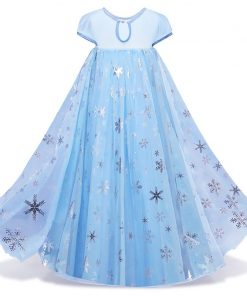 5 6 7 8 9 10 Years Girls Dress Halloween Cosplay Elsa Princess Dresses Fancy Girl Christmas Costume Party Children Kids Clothing 1