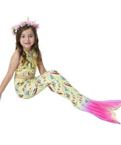 Bear Leader Girls Clothing Sets 2018 New Summer Little Mermaid Tail Bikini Suits Swim Costume Clothing Sets 3PCS For 3-12 Years 1