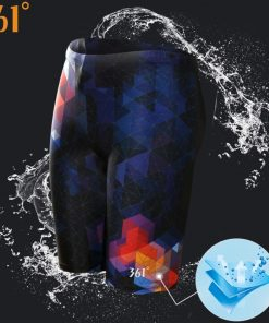 361 Men Swimsuit Plus Size Tight Swimming Trunks Quick Dry Pool Swim Shorts Training Swimwear for Men Boys Swim Pants Jammer 1