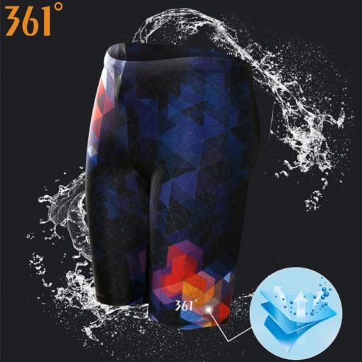 361 Men Swimsuit Plus Size Tight Swimming Trunks Quick Dry Pool Swim Shorts Training Swimwear for Men Boys Swim Pants Jammer 1