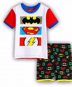 Boy girls pyjamas New summer cotton kids clothes girls set short sleeve clothes sets Batman spiderman Iron Man Short sleeve 1