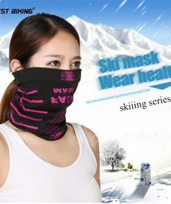 WEST BIKING Warm Winter Cycling Face Mask Windproof Multifunction Face Protection Magic Scarf Headgear Cap Thermal Bicycle Mask 1