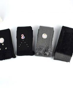 New Children Plus Velvet Leggings Winter Flower Girl Lace Pencil Pants Thicken Warm Long Trousers for Kids Toddler Skinny Pants 1