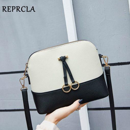 REPRCLA Patchwork Crossbody Bags for Women 2018 Fashion Shoulder Bag Shell Women Messenger Bags Luxury Leather Handbag Designer 2