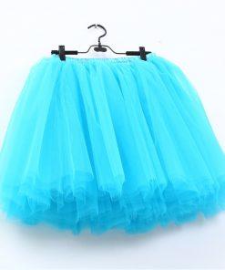 2018 Summer Lovely Fluffy Soft Tulle Tutu Skirt Pettiskirt 26 Colors Skirts for Mother Daughter Pleated Skirts