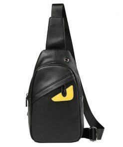 BISI GORO Mens Chest Bags Brand Bottega Veneta Shoulder PU Leather Crossbody business Messenger bags Male Travel&School Bags 1