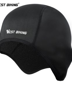 WEST BIKING Cycling Caps Winter Thermal Fleece Bicycle Caps Windproof Warm Bike Riding Hats Outdoor Sports Running Cycling Caps