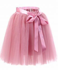 2018 Summer Lovely Fluffy Soft Tulle Tutu Skirt Pettiskirt 26 Colors Skirts for Mother Daughter Pleated Skirts 1