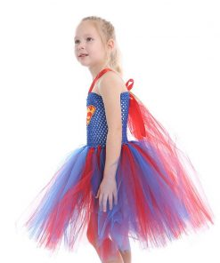 Latest Girls Wonder-Woman Tutu Dress Christmas New Year Costume Super Hero Girl Tutu Dress Photo Props Fancy Cosplay Clothing 1