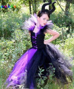 Evil Queen Kids Halloween Party Dresses for Girls Tutu Dress Children Cosplay Costume Girl Clothing Carnival Ball Gown Vestidos