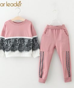 Bear Leader Girls Clothing Sets New Autumn Active girls clothes L Children Clothing Cartoon Print Sweatshirts+Pants Suit 3-7Y