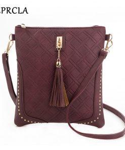 REPRCLA Designer Plaid Women Messenger Bags Fashion Tassel Flap Shoulder Bag PU Leather Women Bag Crossbody Bolsa Feminina