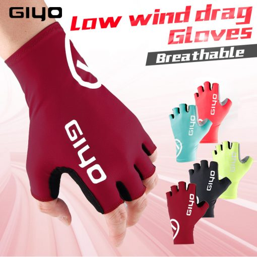 GIYO Anti Slip Gel Pad Bicycle Gloves Gel Pad Short Half Finger Cycling Gloves Breathable Outdoor Sports Men MTB Bikes Gloves 3