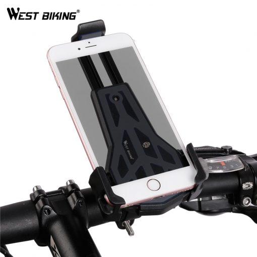 WEST BIKING Cycling Phone Stand 360 Degrees Rotate Mount 3.5-6.2 inch Phone Universal Bike Motorcycle Bracket MTB Bike Holders