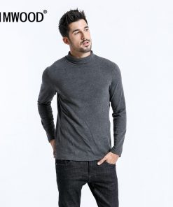 SIMWOOD 2019 Brand Long Sleeve T Shirts Men Fashion Turtleneck Slim Fit Cotton Tops Causal Warm Pullovers Free Shipping 180606 1