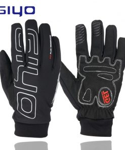 GIYO Waterproof Full Finger Cycling Gloves Touch Screen Road MTB Mountain Bike Gloves Reflective Bicycle Gel Pad Cycling Gloves
