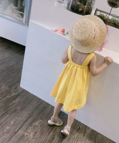 Humor Bear Girls Dresses Summer Girls Clothes Sleeveless colourful baby girl clothes  kids dresses for Girls Princess Dress  1