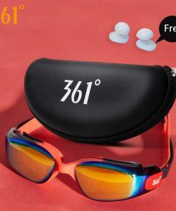 361 Kids Swimming Goggles UV Protection Swimming Glasses Pool Swim Eyewear with Case Water Swim Glasses for Children Anti Fog