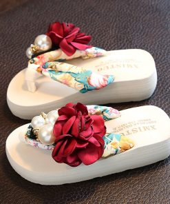 Girls Beach Slippers Children Floral Slippers Women Home Shoes Kids Fashion Casual Flip-flops Sandals 2019 Summer Comfortable