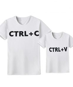 CTRL C+CTRL V Pattern Family Look Dad Son T Shirts Family Matching Clothes Family Boys Children Clothing Family Matching Outfits 1