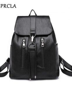 REPRCLA 2018 New Soft PU Leather Women Backpack Fashion Student School Bags for Teenage Girls Shoulder Bag Mochila Feminina