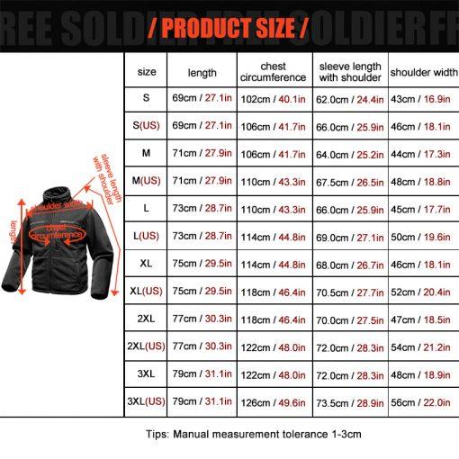 FREE SOLDIER Outdoor Sports Camping Hiking Jackets Men's Clothing Tactical Fleece Jacket Warm Fleece Coat For Men  5