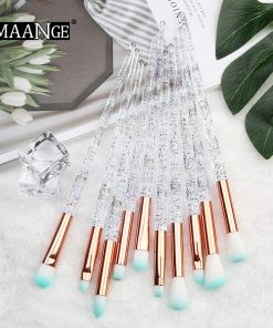 MAANGE 4/10Pcs New Diamond Makeup Brushes Set Women Foundation Powder Blush Eye shadow Lip Cosmetic Colorful for Make Up Tools